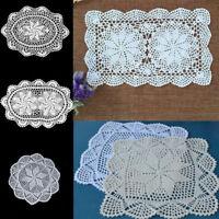 Crochet Placemats Coasters Handmade Table Mat Cotton Lace Doily Kitchen Decor