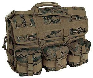 Marpat Woodland Camo MOLLE Tactical Laptop Field Briefcase Shoulder Bag