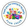 Happy Birthday Fun Personalised Thank You Sticker Party Bag Sweet Cone Birthday