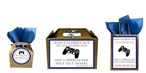 Personalised Father's Day Gamer Dad Gift Small Large Bag Box Present Collection