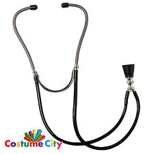 Childs Prop Doctor Nurse Surgeon Stethoscope Fancy Dress Party Costume Accessory