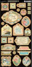 """NEW 2014 Graphic 45 """"COME AWAY WITH ME"""" Chipboard #2 - 6""""x12"""" Sheet 4500926"""