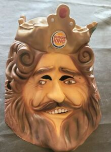 """Burger King BK """"The King"""" Rubber Mask Cosplay Rubie's Costume Co Halloween"""