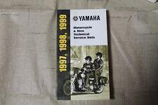 Yamaha Motorcycle and Riva Technical Service Data Manual 1997 1998 1999