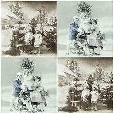 4x Tovaglioli di carta per Decoupage CRAFT Sagen Natale Bambini-MIX