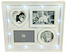White LED 4 Photo Frame 39cm Wall Hanging Collage
