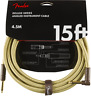 Fender Deluxe Series 15ft Gold Tweed Jack – Angled Jack Guitar Instrument Cable