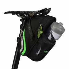 RockBros Cycling Bicycle Rear Seat Bike Saddle Water Bottle Bag Black