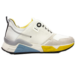 DIESEL S-Brentha LC Mens Star White Fashion Athletic Sneaker Size 12 New