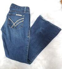 William Rast Daisy Super Flare Jeans Stretch Size 27 Distressed