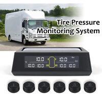 Solar TPMS Tire Pressure Monitor System 6 External Sensors For RV Truck MA2377