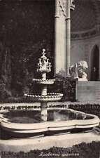 Fountain in Garden Lion Statue Real Photo Antique Non Postcard Back J75685