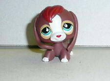 Hasbro Littlest Pet Shop LPS BEAGLE DOG Brown With Blue Eyes 2008 *Cute