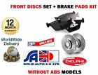 FOR NISSAN ALMERA N15 1995 > WITHOUT ABS FRONT BRAKE DISCS SET + DISC PADS KIT