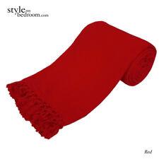LARGE 100% Cotton Woven Sofa / Bed Throw 6 Sizes + Giant Jumbo Size