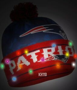 New England Patriots NFL Big Logo Camoflage 2017 Light Up Beanie