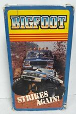 1989 BIGFOOT STRIKES AGAIN MONSTER TRUCK VHS TAPE Free Shipping