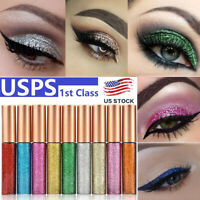 10Pcs/set Waterproof Shimmer Eyeshadow Glitter Liquid Eyeliner Metallic Cosmetic