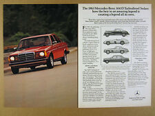 1983 Mercedes-Benz 300D Turbo Diesel Sedan red car photo vintage print Ad