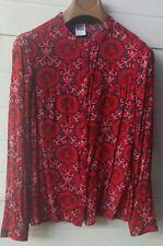 Camicia camicetta blusa con bottoni  taglia S rosso vino stampato Vero Moda