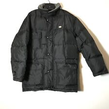 Vintage Lacoste Black Technical Grid Puffer Coat Size 50 3 Extra Large Hood