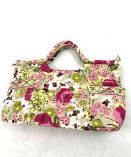 Vera Bradley Gabby Style Rose Peony Floral Handbag Satchel Tote Purse Bag