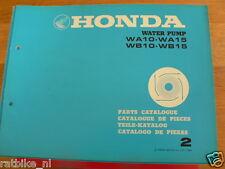 HONDA WA10,WA15,WB10,WB15  PARTS CATALOGUE 2 FACTORY BOOK WATER PUMP GAS POWERED