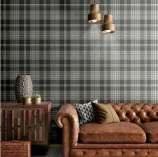 Catherine Lansfield Designer Kelso Check Tartan Grey Silver Wallpaper 165523