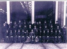 PHOTOGRAPH TRAM DRIVERS & CONDUCTORS CONSTANTINE RD DEPOT IPSWICH C 1918