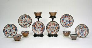 CHINESE BATAVIA WARE IMARI EXPORT PORCELAIN 6 BOWLS & 6 SAUCERS QIANLONG  c.1740