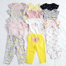 3-6 Months Baby Girl Clothes Lot Short Sleeve Tops Outfits Pants Pink Floral