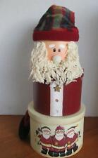 Santa Stacking Tower Christmas Holiday Gift Box Set 3 Tiers