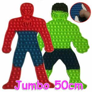 50x50cm Spiderman Jumbo Bubble Popper Fidget Toys Game Toy - Hulk / Spider web