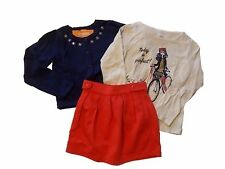 NWT Girl's Gymboree Mod about Orange long sleeve shirt sweater skirt 6 FREE SHIP