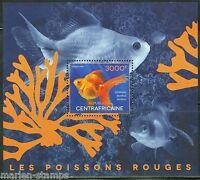 CENTRAL AFRICA 2014  RED FISH   SOUVENIR SHEET MINT NH