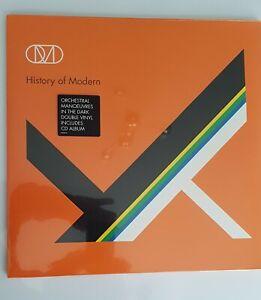 OMD HISTORY OF MODERN Double 12inch VINYL LP + CD 2010 RARE MINT SEALED BNL001LP