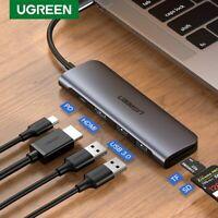 Ugreen USB C HUB Type C HDMI VGA Adapter Thunderbolt 3 PD Converter Fr Macbook