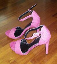 Sandali donna rosa fuxia fucsia pitone scarpe usate tacco alto cinturino