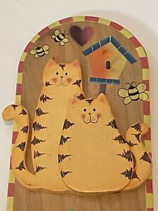 Wood Decorative Cat Sign ~ Home Decor ~ Shipping ~ Animal Sign ~ Household