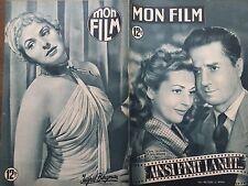 "MON FILM 1949 N 171 ""AINSI FINIT LA NUIT ""avec CLAUDE DAUPHIN et ANNE VERNON"