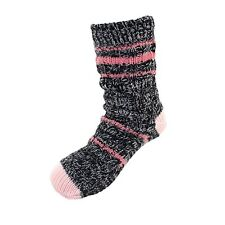 Fuzzy Thermal Fleece-lined Knitted Non-skid Crew Socks - Color 03