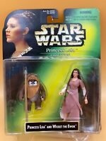 1997 Star Wars Power of the Force - Princess Leia and Wicket the Ewok Kenner