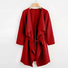 Beauty Women Jacket Open Front Trench Coat Overcoat Waterfall Cardigan Outwear