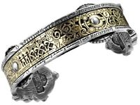 Spectrostatic Nocturnium Steampunk Brass Inlay Cuff Bracelet A15 Alchemy Gothic
