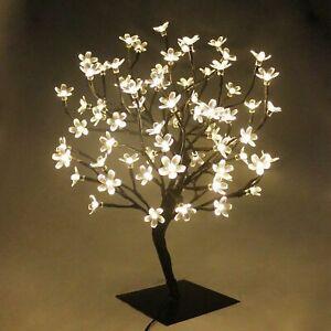 Best 72 LED Fairy Light Cherry Blossom Bonsai Style Christmas Tree Lamp Metal