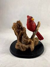 Red Cardinal On Branch Bird Figurine Statue