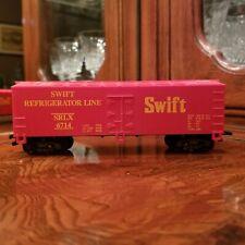 "HO Scale #6714 Swift Refrigerator Line SRLX  6"" Long Two Tone Color EUC Car"
