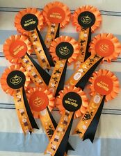 10 X 1 Tier Halloween Rosettes with printed tail
