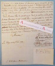 L.A.S 1782 Van SWINDEN LA HAYE Pays-Bas fermentation des vins Louis COTTE Lettre