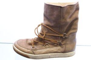 Schuhe grau Nubuk Glatt Leder Kombi Warmfutter Gr. 41 (UK 7)